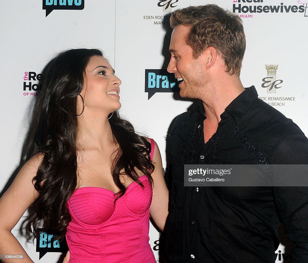 Camila Banus and <a gi-track='captionPersonalityLinkClicked' href=/galleries/search?phrase=Eric+Martsolf&family=editorial&specificpeople=675242 ng-click='$event.stopPropagation()'>Eric Martsolf</a> attends The Real Housewives of Miami Premiere Party at Eden Roc, a Renaissance Beach Resort and Spa on February 21, 2011 in Miami Beach, Florida.