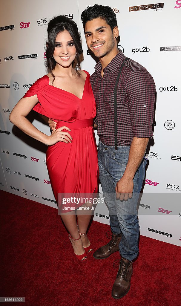 Camila Banus and Marlon Aquino attend the Star Magazine's 'Hollywood Rocks' Party held at the Playhouse Hollywood on April 4, 2013 in Los Angeles, California.