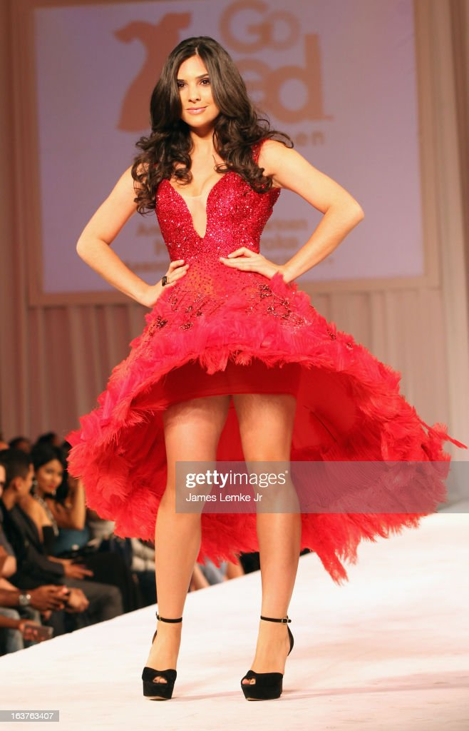 Camila Banus attends the 2013 Los Angeles Fashion Week - Go Red For Women Red Dress Fashion Show held at the Vibiana on March 14, 2013 in Los Angeles, California.