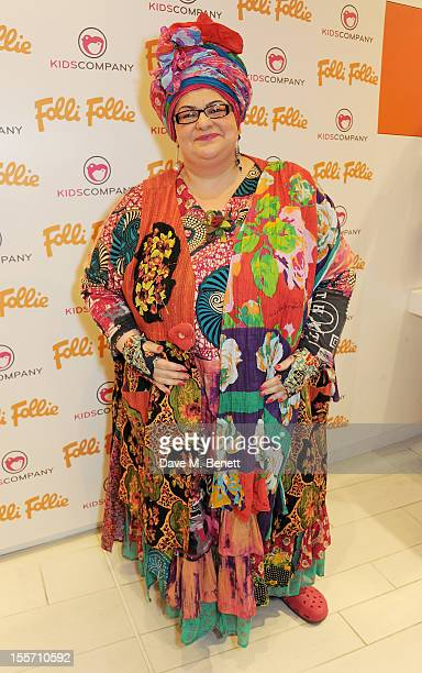 Camila Batmanghelidjh attends the Folli Follie and Kids Company Collection launch hosted by Erin O'Connor at the Folli Follie New Bond Street...