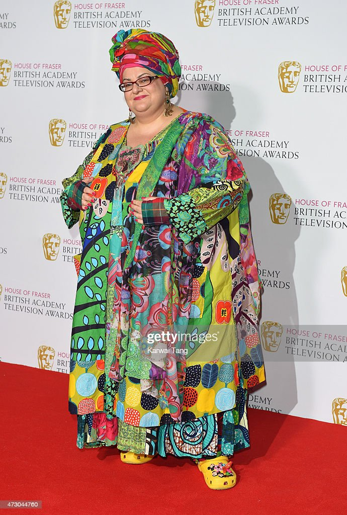Camila Batmanghelidjh poses in the winners room at the House of Fraser British Academy Television Awards at Theatre Royal on May 10, 2015 in London, England.