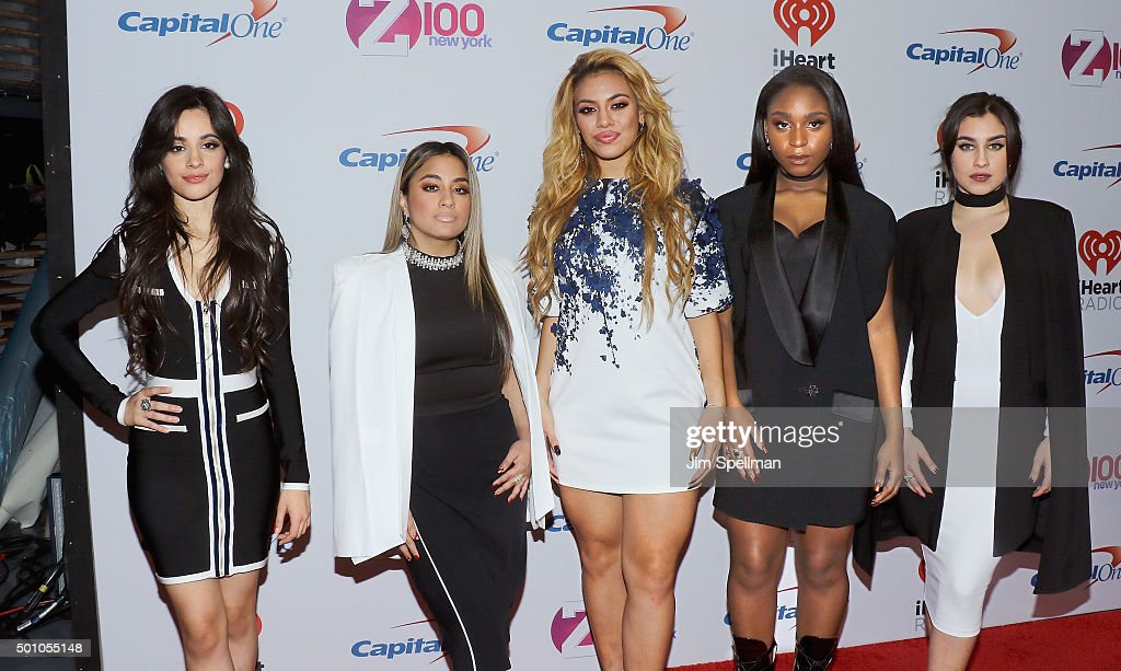 Camila Cabello, Ally Brooke, Dinah Jane Hansen, Normani Hamilton and Lauren Jauregui of Fifth Harmony attend the Z100's iHeartRadio Jingle Ball 2015 at Madison Square Garden on December 11, 2015 in New York City.