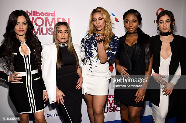 Camila Cabello Ally Brooke Hernandez Dinah Jane Normani Kordei and Lauren Jauregui attend Billboard's 10th Annual Women In Music at Cipriani 42nd...
