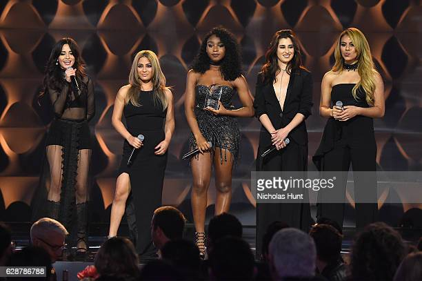 Camilla Cabello Ally Brooke Normani Kordei Dinah Jane and Lauren Jauregui of Fifth Harmony attend the Billboard Women in Music 2016 event on December...