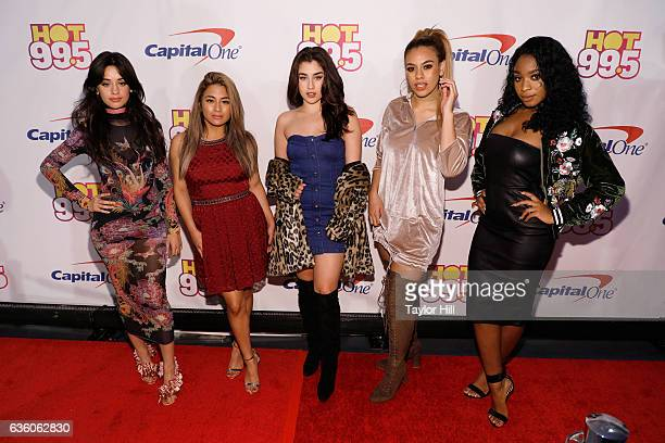 Camila Cabello Aly Brooke Lauren Jauregui Dinah Jane and Normani Kordei of Fifth Harmony attend the Hot 995 Jingle Ball at Verizon Center on December...