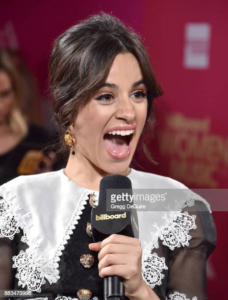 Camila Cabello arrives at the Billboard Women In Music 2017 at The Ray Dolby Ballroom at Hollywood Highland Center on November 30 2017 in Hollywood...