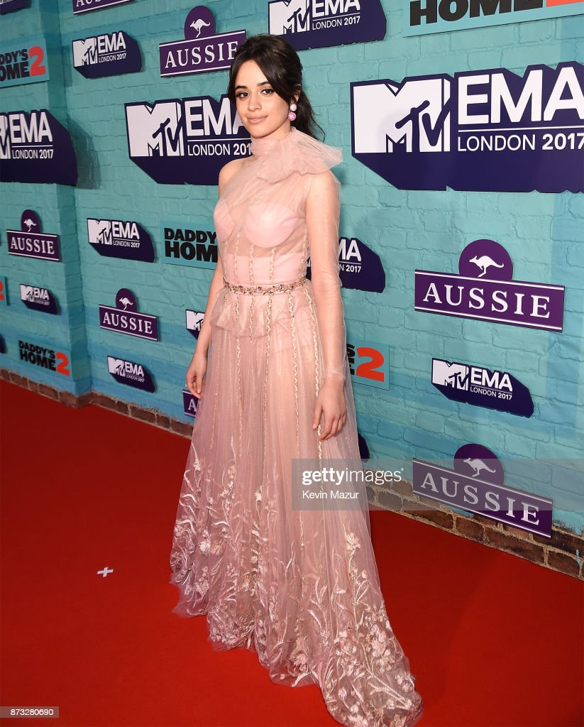 Camila Cabello attends the MTV EMAs 2017 held at The SSE Arena, Wembley on November 12, 2017 in London, England.