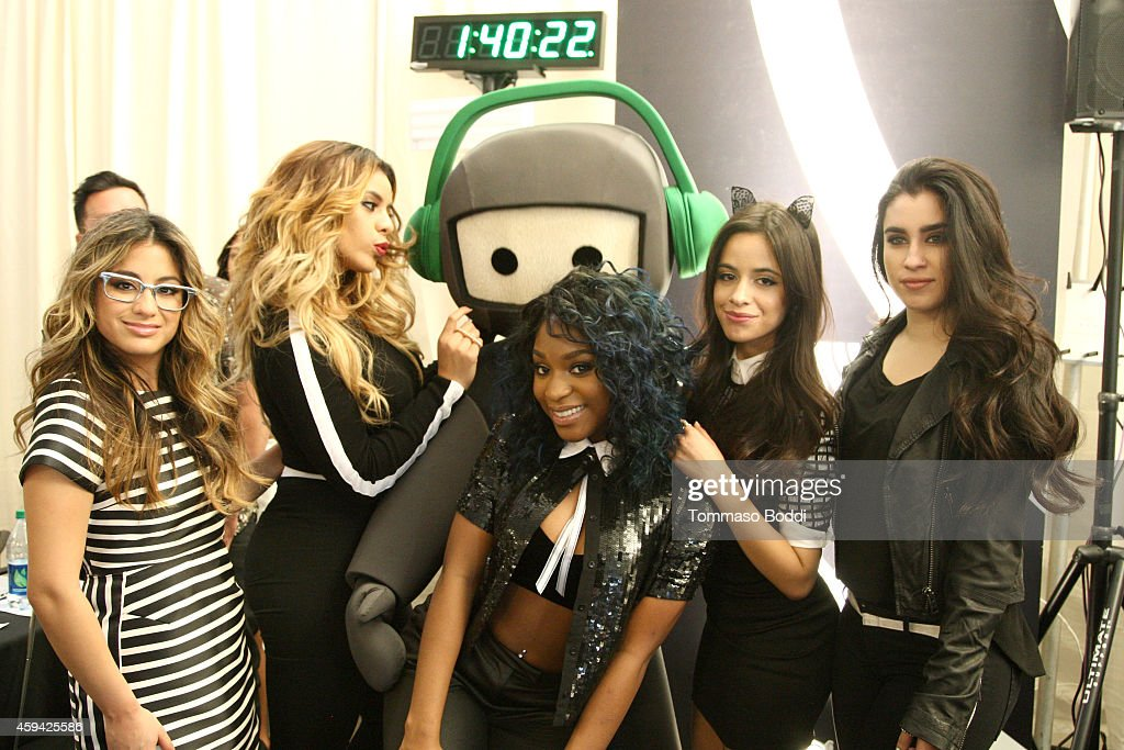 Camila Cabello, Dinah Jane Hansen, Normani Hamilton, Ally Brooke and Lauren Jauregui of the musical group 5th Harmony attend Red Carpet Radio presented by Westwood One at Nokia Theatre L.A. Live on November 22, 2014 in Los Angeles, California.