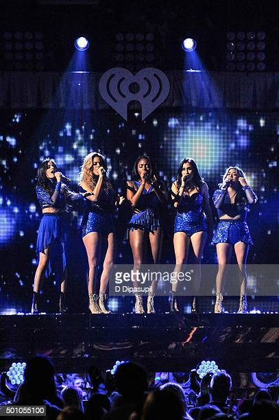 Camila Cabello Dinah Jane Normani Kordei Lauren Jauregui and Ally Brooke of Fifth Harmony perform onstage during Z100's iHeartRadio Jingle Ball 2015...
