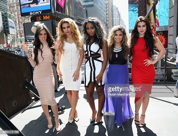 Camila Cabello DinahJane Hansen Normani Kordei Ally Brooke and Lauren Jauregui of Fifth Harmony at the World Premiere of their of their video 'I'm in...