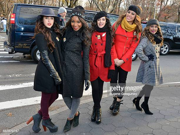 Camila Cabello Lauren Jauregui DinahJane Hansen Normani Kordei and Ally Brooke of Fifth Harmony attend the 87th annual Macy's Thanksgiving Day parade...