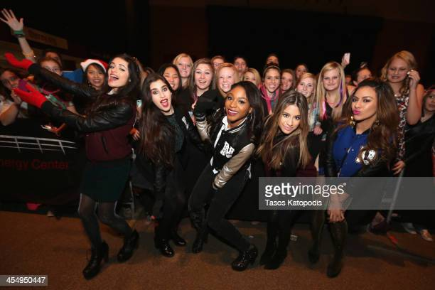 Camila Cabello Lauren Jauregui Normani Kordei Ally Brooke Dinah Jane Hansen of Fifth Harmony pose with fans at KDWB's Jingle Ball preparty 1013...
