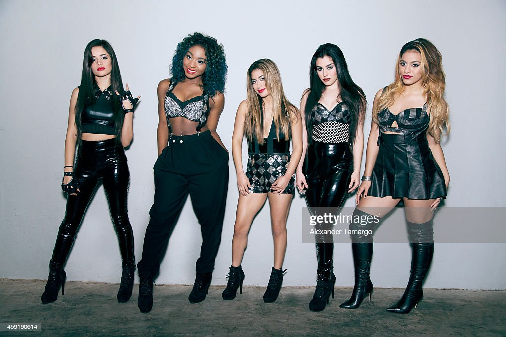 Camila Cabello Normani Hamilton Ally Brooke Lauren Jauregui and Dinah Jane Hansen of the musical group 5th Harmony are photographed at the 2014 MTV...