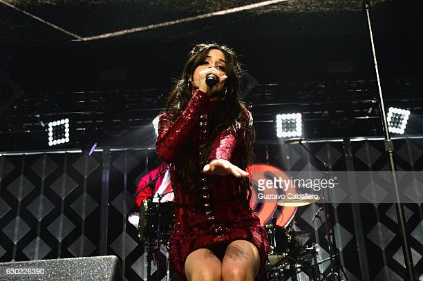 Camila Cabello of Fifth Harmony performs at the Y100's Jingle Ball 2016 at BBT Center on December 18 2016 in Sunrise Florida
