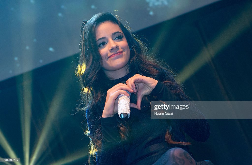<a gi-track='captionPersonalityLinkClicked' href=/galleries/search?phrase=Camila+Cabello&family=editorial&specificpeople=9951839 ng-click='$event.stopPropagation()'>Camila Cabello</a> of Fifth Harmony performs at the Z100 & Coca-Cola All Access Lounge at Hammerstein Ballroom on December 13, 2013 in New York City.