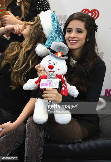 Camila Cabello poses backstage at 1035 KISS FM's Jingle Ball 2013 presented by Jam Audio Collection at United Center on December 9 2013 in Chicago IL