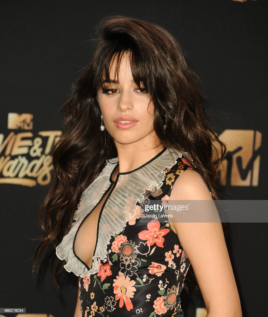 Camila Cabello poses in the press room at the 2017 MTV Movie and TV Awards at The Shrine Auditorium on May 7, 2017 in Los Angeles, California.
