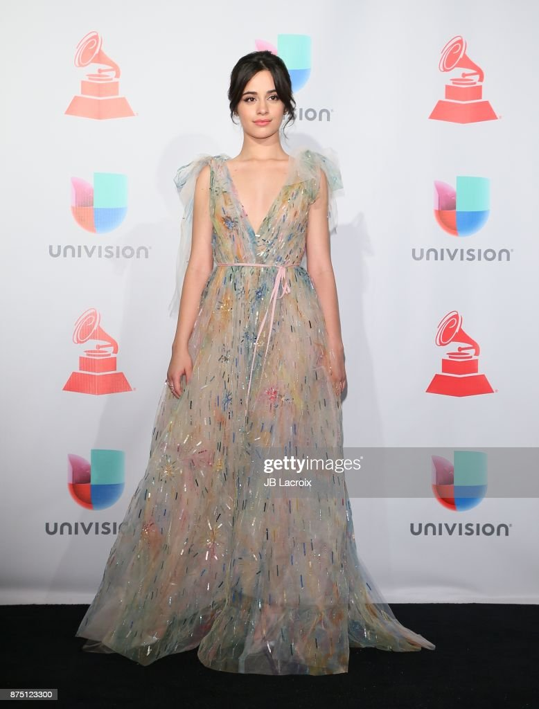 Camila Cabello poses in the press room during The 18th Annual Latin Grammy Awards at MGM Grand Garden Arena on November 16, 2017 in Las Vegas, Nevada.