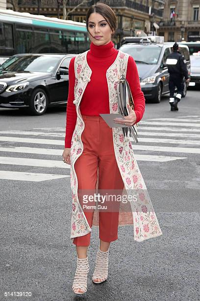 Camila Coelho arrives at the Stella McCartney show as part of the Paris Fashion Week Womenswear Fall/Winter 2016/2017 on March 7 2016 in Paris France