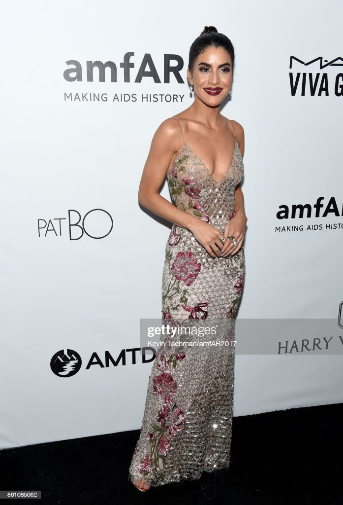 Camila Coelho at amfAR Los Angeles 2017 at Ron Burkle's Green Acres Estate on October 13, 2017 in Beverly Hills, Californi