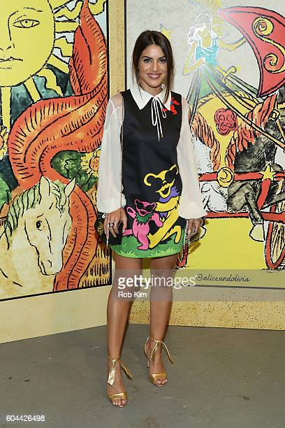 Camila Coelho attends the Alice Olivia by Stacey Bendet Spring/Summer 2017 Presentation during New York Fashion Week September 2016 at Skylight at...