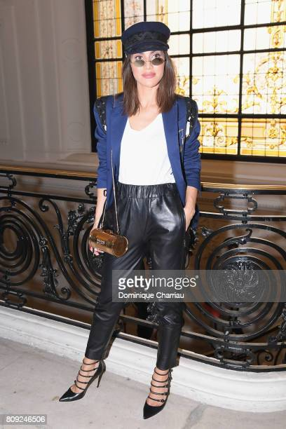 Camila Coelho attends the Jean Paul Gaultier Haute Couture Fall/Winter 20172018 show as part of Haute Couture Paris Fashion Week on July 5 2017 in...