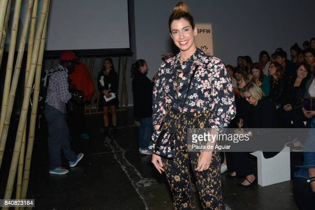 Camila Coutinho attends Agua de Coco Front Row SPFW N44 Winter 2018 at Ibirapuera's Bienal Pavilion on August 29 2017 in Sao Paulo Brazil