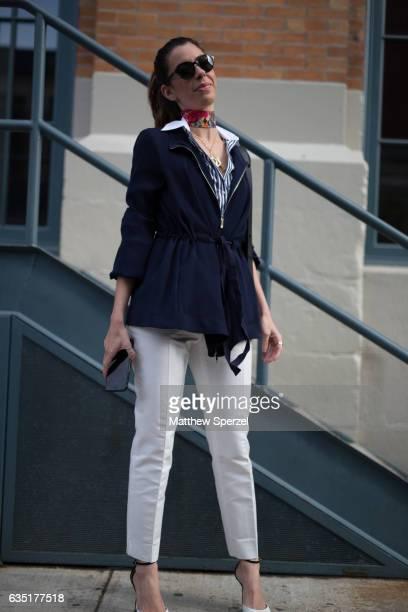 Camila Coutinho is seen attending Carolina Herrera during New York Fashion Week wearing Carolina Herrera on February 13 2017 in New York City