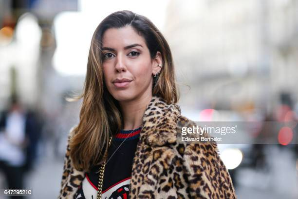 Camila Coutinho is seen outside the Alexis Mabille show during Paris Fashion Week Womenswear Fall/Winter 2017/2018 on March 2 2017 in Paris France