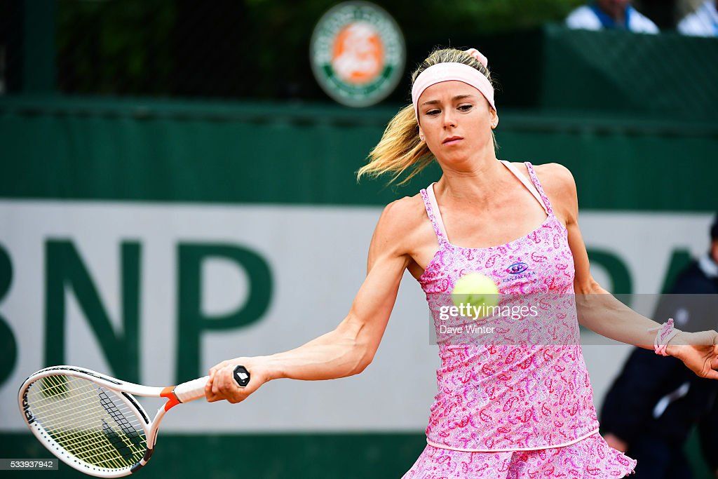 Camila Giorgi during the Women's Singles first round on day three of the French Open 2016 at Roland Garros on May 24, 2016 in Paris, France.