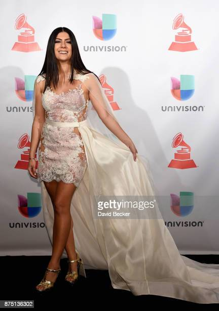 Camila Luna poses in the press room during The 18th Annual Latin Grammy Awards at MGM Grand Garden Arena on November 16 2017 in Las Vegas Nevada