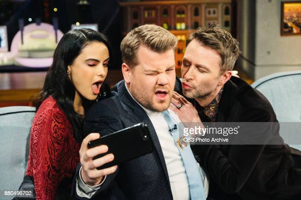 Camila Mendes and Chris Hardwick chat with James Corden during 'The Late Late Show with James Corden' Tuesday November 21 2017 On The CBS Television...