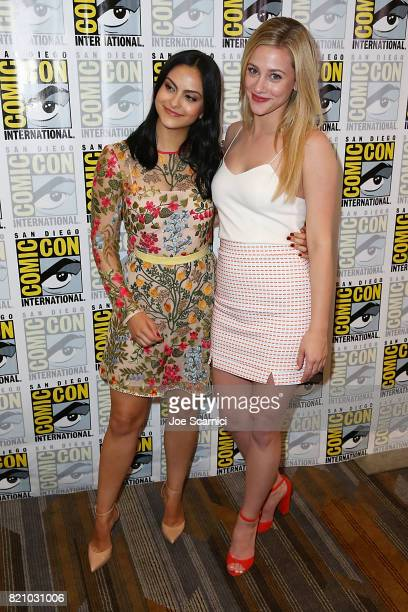 Camila Mendes and Lili Reinhart arrive at the 'Riverdale' press line at ComicCon International 2017 on July 22 2017 in San Diego California