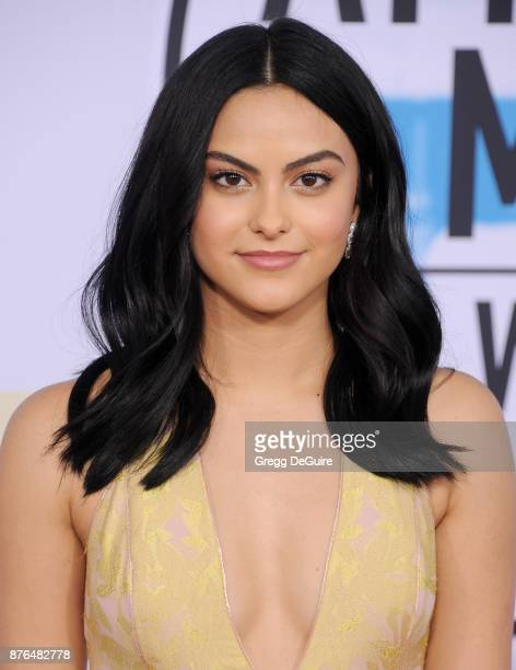 Camila Mendes arrives at the 2017 American Music Awards at Microsoft Theater on November 19 2017 in Los Angeles California