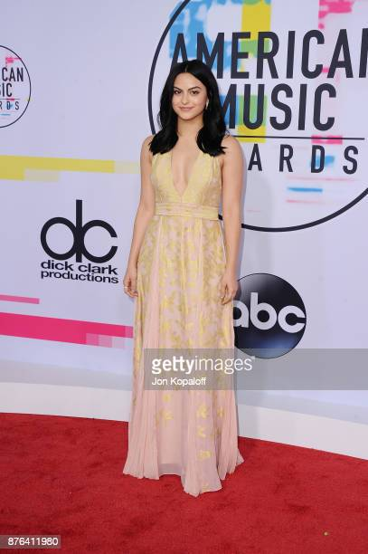 Camila Mendes attends the 2017 American Music Awards at Microsoft Theater on November 19 2017 in Los Angeles California