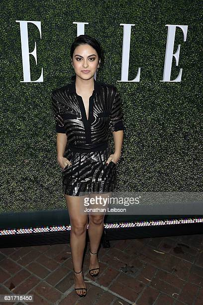 Camila Mendes attends the ELLE's Annual Women In Television Celebration 2017 Red Carpet at Chateau Marmont on January 14 2017 in Los Angeles...