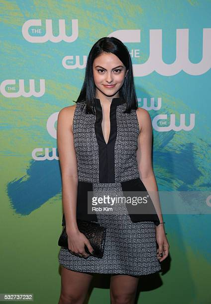 Camila Mendes of the series 'Riverdale' attends The CW Network's 2016 New York Upfront Presentation at The London Hotel on May 19 2016 in New York...