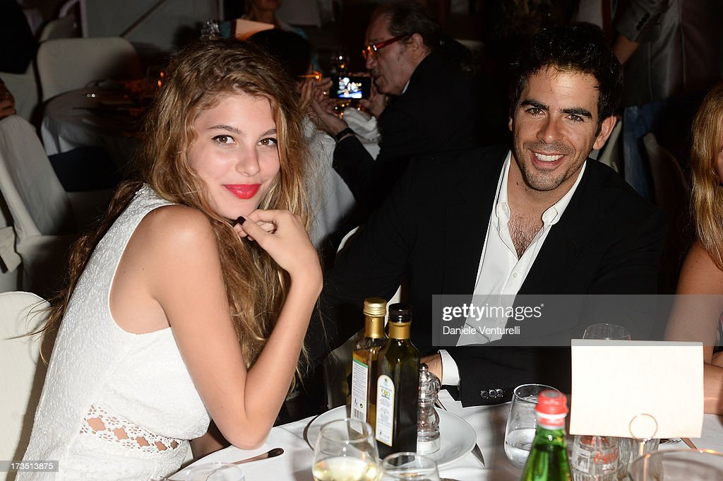 Camila Morrone and <a gi-track='captionPersonalityLinkClicked' href=/galleries/search?phrase=Eli+Roth&family=editorial&specificpeople=543948 ng-click='$event.stopPropagation()'>Eli Roth</a> attend the Day 3 of Ischia Global Fest 2013 on July 15, 2013 in Ischia, Italy.