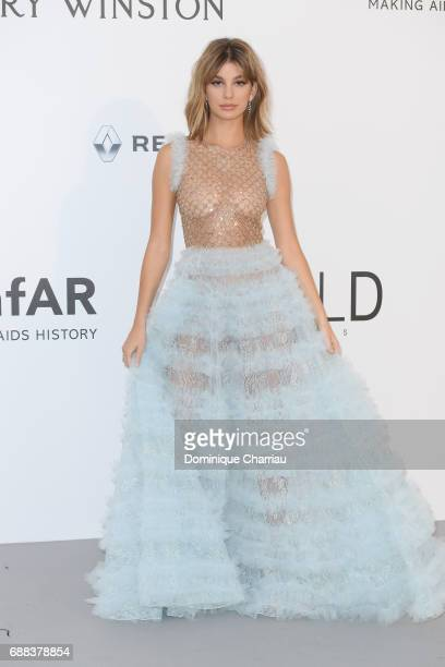 Camila Morrone arrives at the amfAR Gala Cannes 2017 at Hotel du CapEdenRoc on May 25 2017 in Cap d'Antibes France