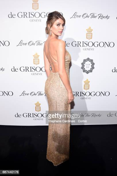 Camila Morrone attends DeGrisogono 'Love On The Rocks' during the 70th annual Cannes Film Festival at Hotel du CapEdenRoc on May 23 2017 in Cap...