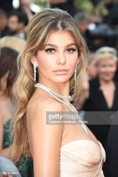 Camila Morrone attends 'The Beguiled' premiere during the 70th annual Cannes Film Festival at Palais des Festivals on May 24 2017 in Cannes France