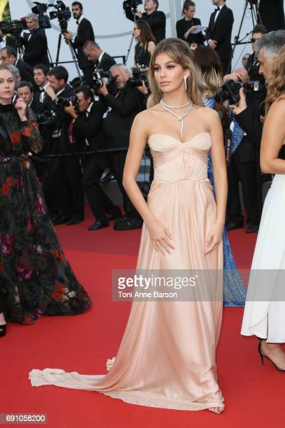 Camila Morrone attends the 'The Beguiled' screening during the 70th annual Cannes Film Festival at Palais des Festivals on May 24 2017 in Cannes...