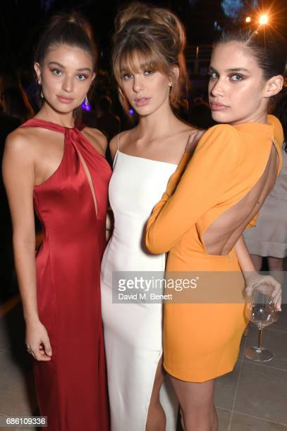 Camila Morrone Daniela Lopez Osorio and Sara Sampaio attend the Vanity Fair and Chopard Party celebrating the Cannes Film Festival at Hotel du...