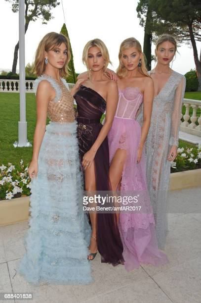 Camila Morrone Hailey Baldwin Elsa Hosk and Martha Hunt arrive at the amfAR Gala Cannes 2017 at Hotel du CapEdenRoc on May 25 2017 in Cap d'Antibes...
