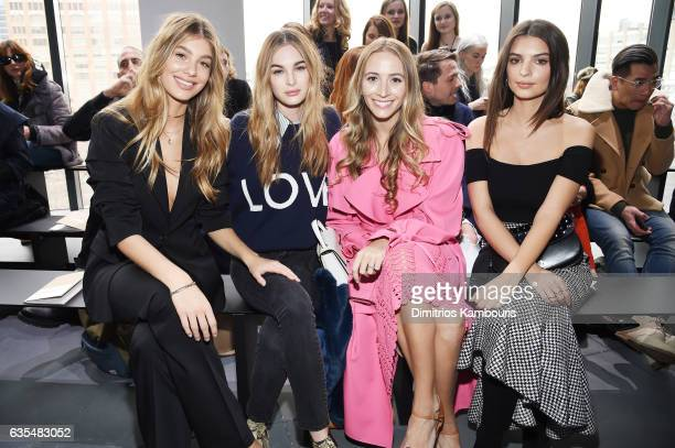 Camila Morrone Laura Love Harley VieraNewtorn and Emily Ratajkowski attend the Michael Kors Collection Fall 2017 runway show at Spring Studios on...