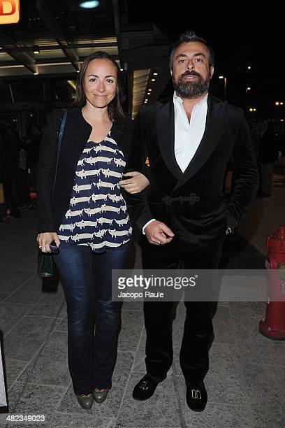 Camila Raznovich and Ildo Damiano arrive at Sky Atlantic Presents Game Of Thrones on April 3 2014 in Milan Italy