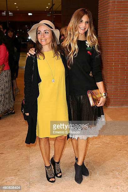 Camila Raznovich and Nicoletta Romanoff attend a photocall for 'Era D'Estate' during the 10th Rome Film Fest on October 15 2015 in Rome Italy