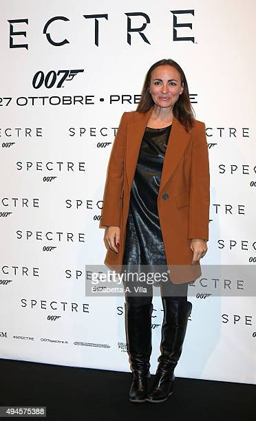 Camila Raznovich attends a red carpet for 'Spectre' on October 27 2015 in Rome Italy