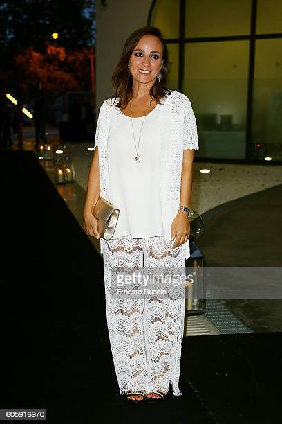 Camila Raznovich attends 'Francesco Escalar Glamour 'n Soul' opening at Museo Maxxi on September 15 2016 in Rome Italy