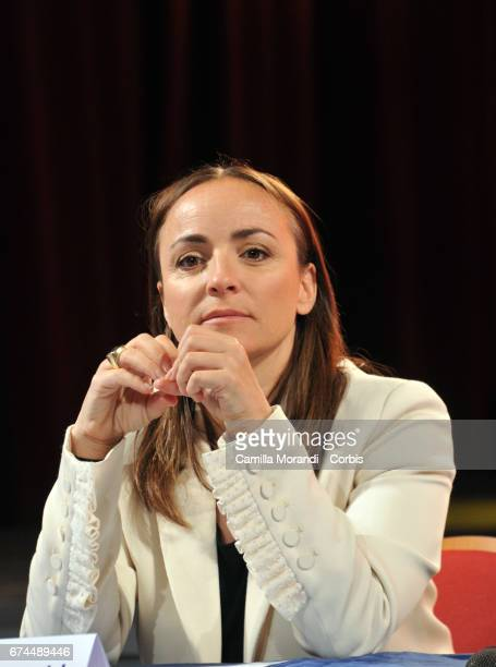Camila Raznovich attends the 1st Of May Concert In Rome Press Conference on April 28 2017 in Rome Italy